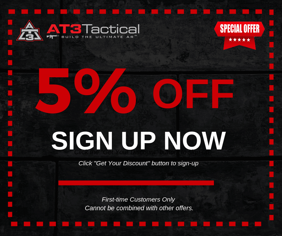 AT3 Tactical Email Sign Up Discount Coupon