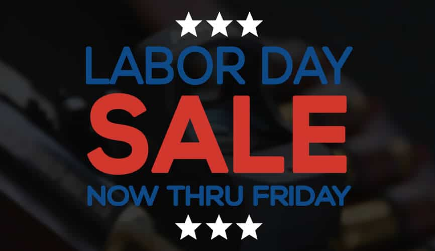 Labor Day Sale - Now through friday! August 30 to September 6, 2019.