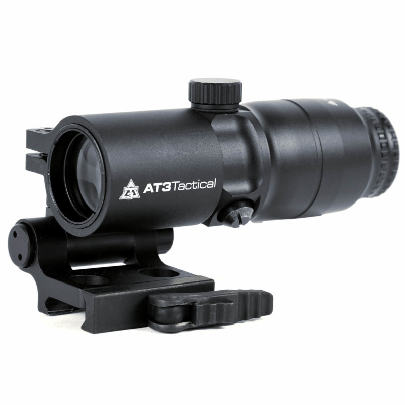 Open Box Return-AT3 4xRDM 4x Red Dot Magnifier with Flip-to-Side Mount