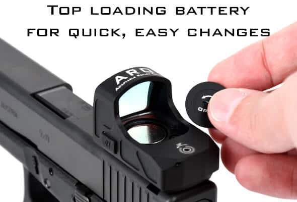 AT3 ARO Micro Red Dot with Top Loading Battery Cover