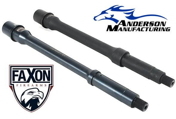 Choose your barrel! Faxon Firearms or Anderson Manufacturing