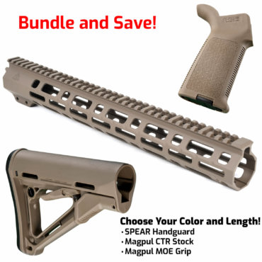 AT3 SPEAR Furniture Kit with M-LOK Handguard, Magpul CTR Buttstock and MOE Pistol Grip