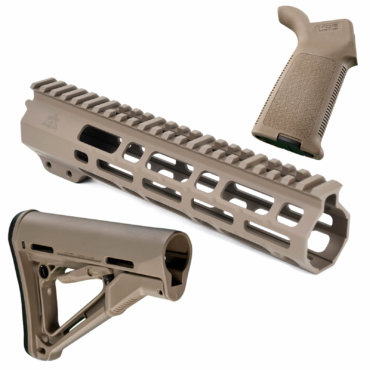 AT3 SPEAR Furniture Kit with M-LOK Handguard, Magpul CTR Buttstock and MOE Pistol Grip FDE 9 Inch
