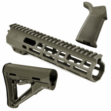 AT3 SPEAR Furniture Kit with M-LOK Handguard, Magpul CTR Buttstock and MOE Pistol Grip OD Green 9 Inch