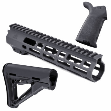 AT3 SPEAR Furniture Kit with M-LOK Handguard, Magpul CTR Buttstock and MOE Pistol Grip Gray 9 Inch