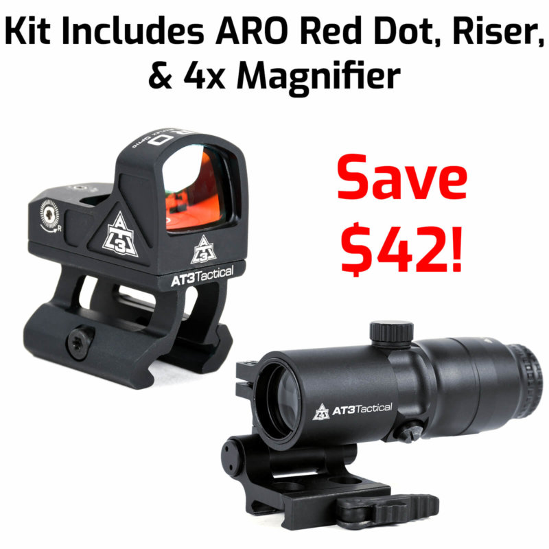 AT3 Tactical ARO Micro Red Dot with 4xRDM 4x Magnifier Kit