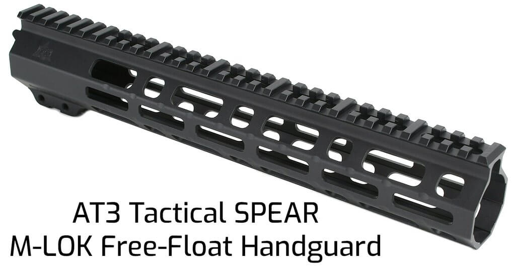AT3 Tactical SPEAR M-LOK Free Float Handguard, seen here in 12 Inch length