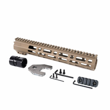 Open Box Return-Flat Dark Earth-AT3 M Lok Handguard Spear M-Lok for AR-15
