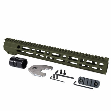 Open Box Return- OD Green-AT3 M Lok Handguard 15inch Spear M-Lok for AR-15