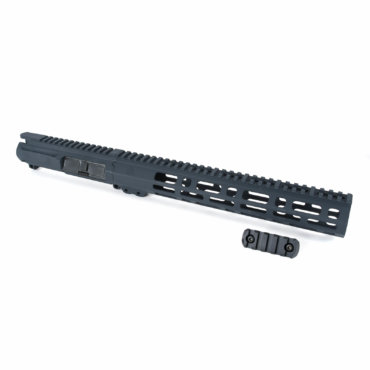 AT3 Tactical Spear M-LOK Free Float Handguard 9 Inch with Slick Side Billet Upper Receiver Grey 12 Inch