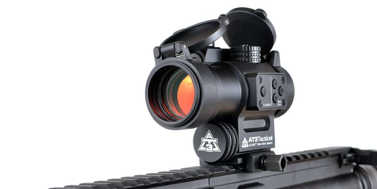 AT3™ LEOS™ Red Dot Sight with Integrated Laser Sight and Riser