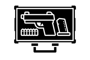 illustration of a gun in concealed inaccessible transport