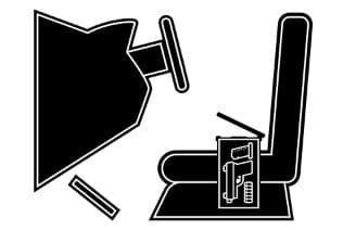 illustration of a gun in a concealed transport