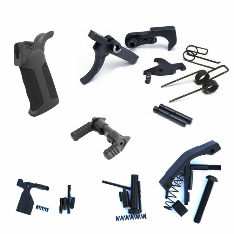 AT3™ Mil-Spec Plus Lower Parts Kit w/ Ambi Selector and X-Tech Grip