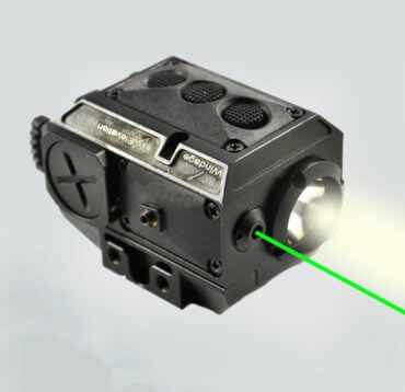 AT3™ Green Laser Light Combo with LED Strobe Flashlight LL-02G