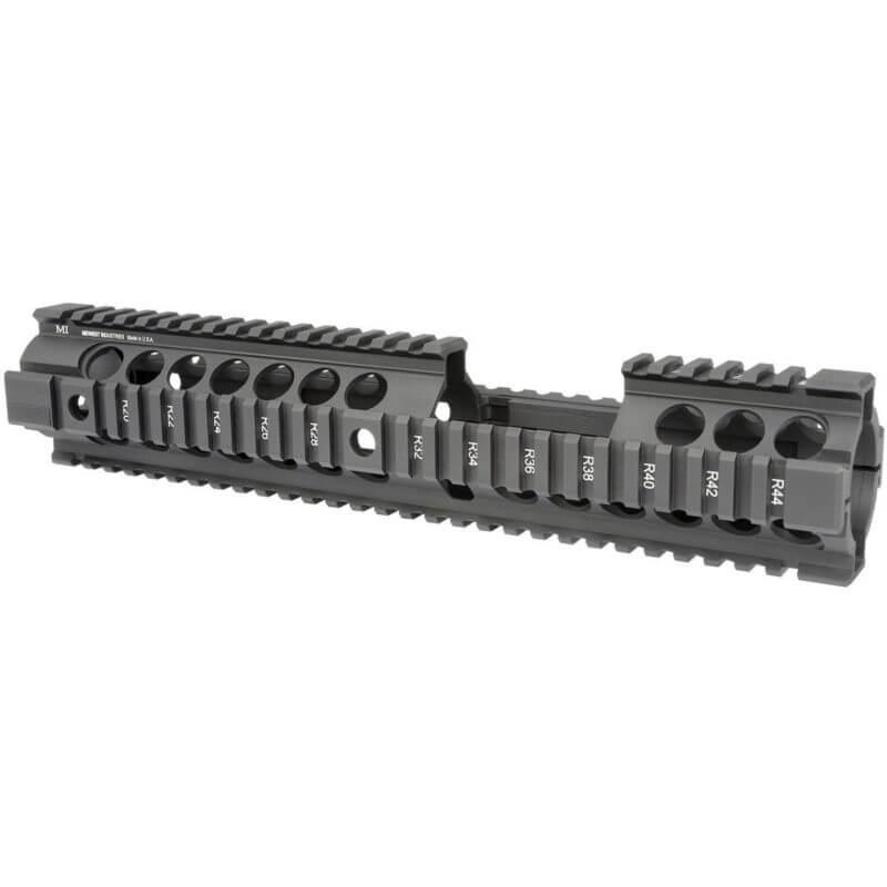 "MI 12.5"" AR-15 Gen2 Two Piece Free Float Quad Rail Handguard with Carbine Front Sight Cutout"