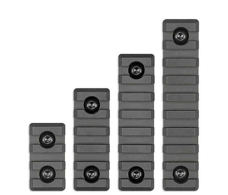 MI M-LOK Picatinny Rail Rail Sections - 3, 5, 7, or 9 Slot Size