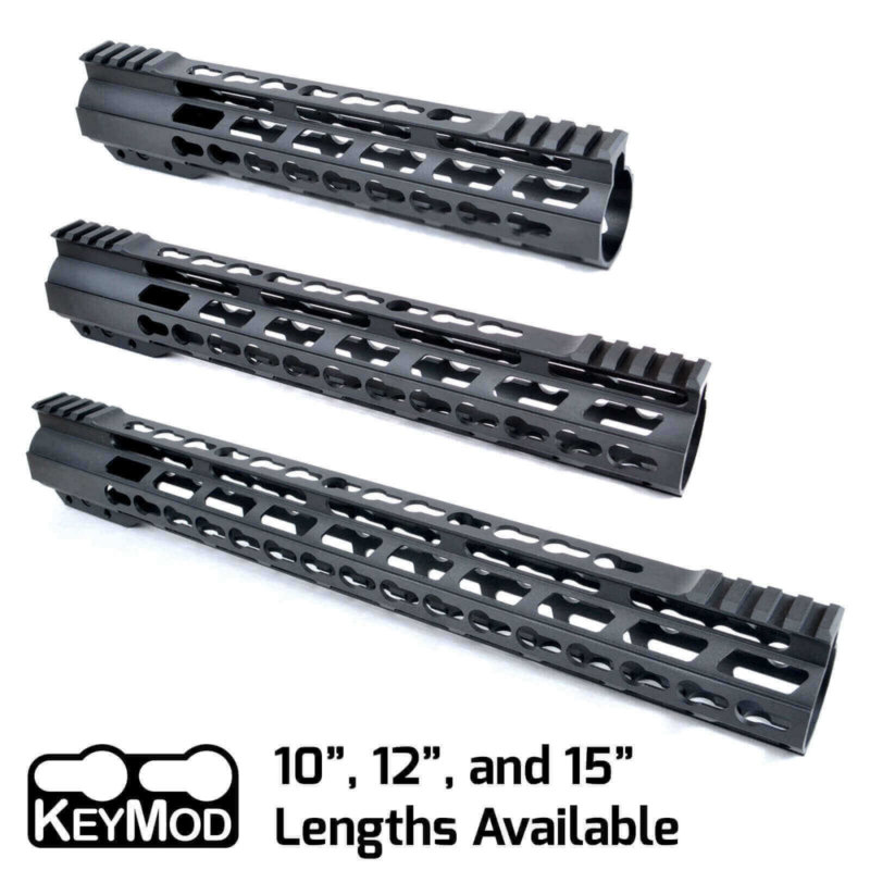 "AT3™ PROMOD-K Keymod AR-15 Free Float Handguard - 10"", 12"", & 15"" Lengths"