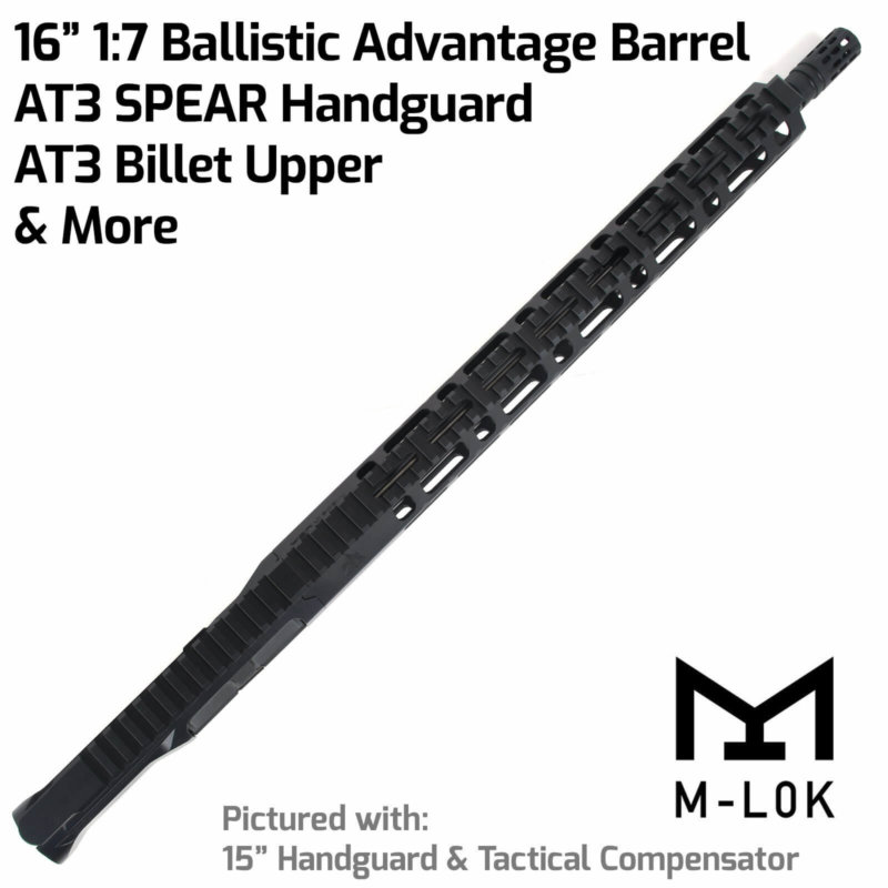 "AT3™ FF-ML Complete Rifle Upper - .223/5.56 16"" Ballistic Advantage Barrel - M-LOK Free Float Handguard"