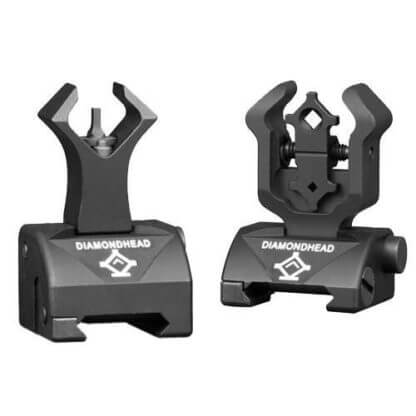 Diamondhead Front & Gen2 Rear Sight Set - Folding - Gas Block Height - 1599