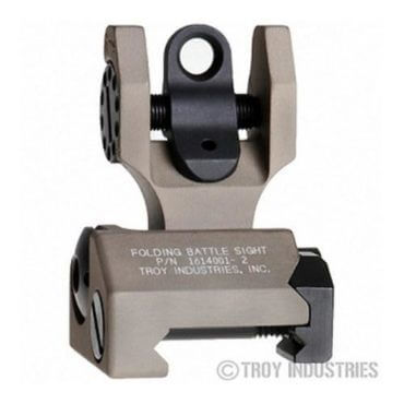 Troy Rear Battle Sight Black - Folding - Optional Tritium Illumination