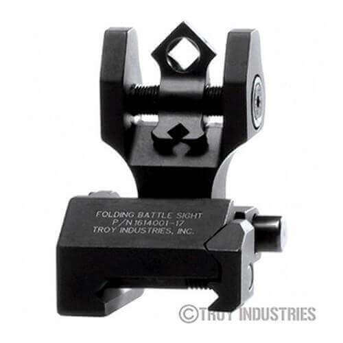 Troy Rear Sight - Folding - Di-Optic Aperture (DOA) - Optional Tritium Illumination