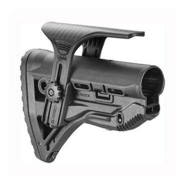Mako AR15 Stock w/Shock Absorber Black, w/Cheek Rest - GL-SHOCKCP-B-CLR