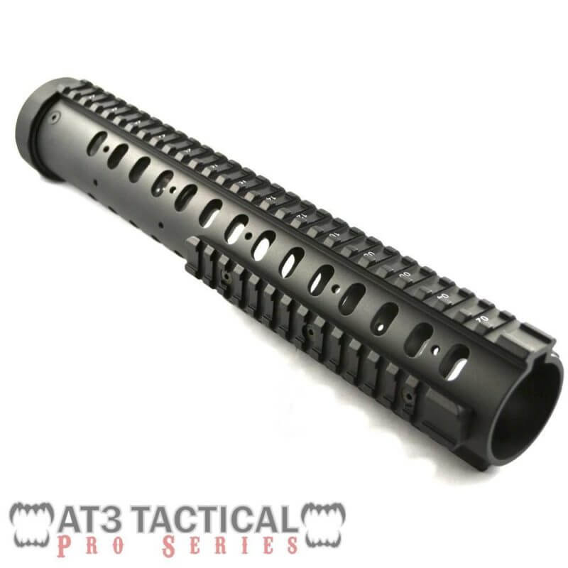 "BLEMISHED - AT3 Tactical 12.5"" Free Float Quad Rail Handguard w Detachable Rails - Pro Series"