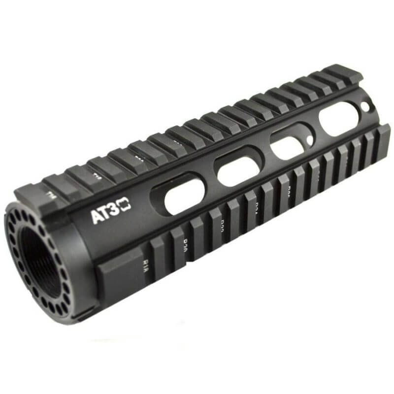 "BLEMISHED RETURN AT3 Tactical Carbine-Length 7"" Free Float Quad Rail Handguard T-Series - Oval Vent Holes"