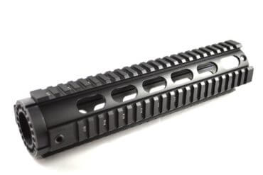"BLEMISHED RETURN AT3 Tactical Mid-Length 10"" Free Float Quad Rail Handguard T-Series - Oval Vent Holes"