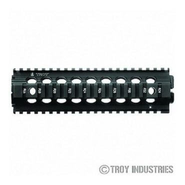 "OPEN BOX RETURN Black Troy 9"" Mid-Length Battle Rail AR-15 Drop-In Quad Rail"
