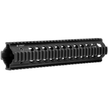 "OPEN BOX RETURN Troy Bravo Rail 11"" Free Float Quad Rail - BLACK"