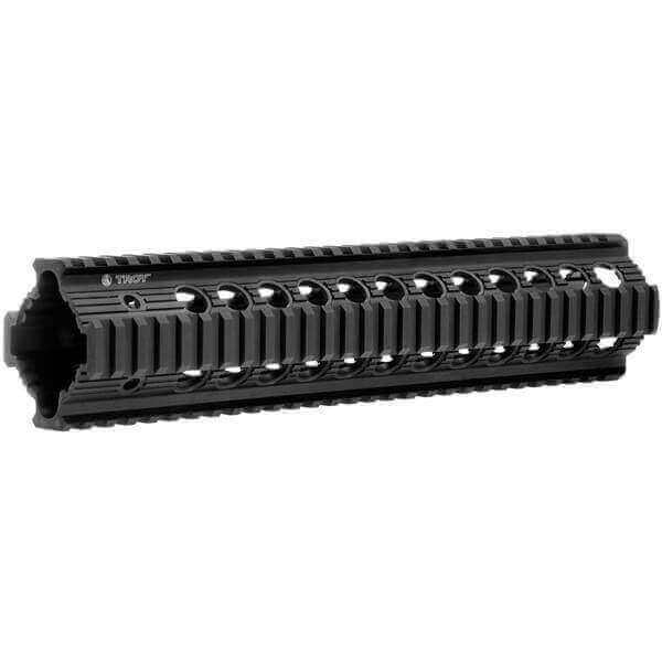 "OPEN BOX RETURN Troy Bravo Rail 11"" Free Float Quad Rail - BLACK"