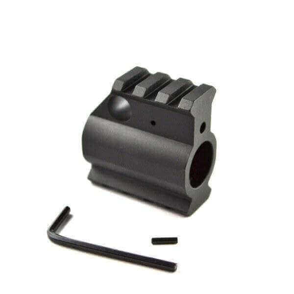 "OPEN BOX RETURN 3/4"" (.75"") Gas Block with Top and Bottom Picatinny Rails - Aluminum by AT3 Tactical"