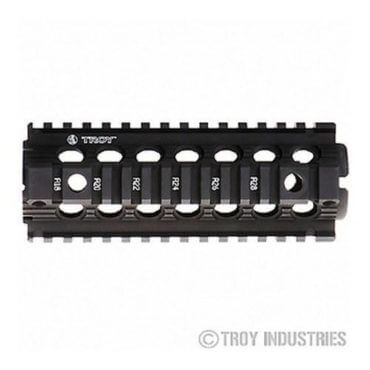"Troy 7"" Carbine Length Battle Rail AR-15 Drop-In Quad Rail-BLACK"