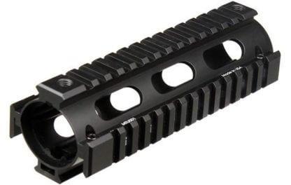 UTG Pro Drop-In Carbine AR-15 Quad Rail - 2-Piece - with Rail Covers - MTU001
