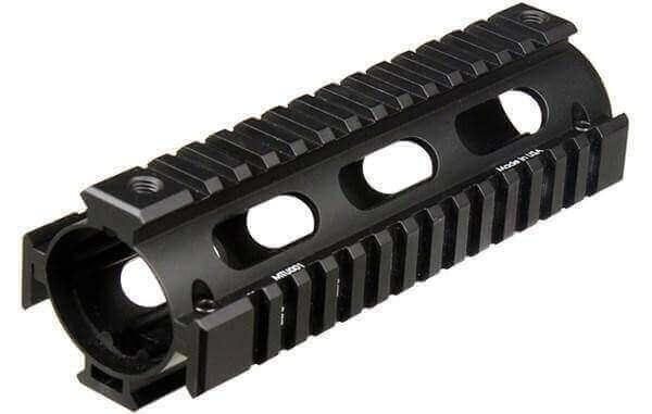OPEN BOX RETURN UTG Pro Drop-In Carbine AR-15 Quad Rail - 2-Piece - with Rail Covers - MTU001