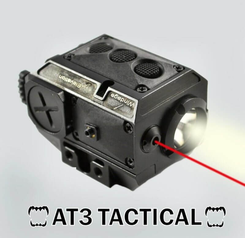 AT3™ Red Laser Light Combo with LED Strobe Flashlight LL-02R