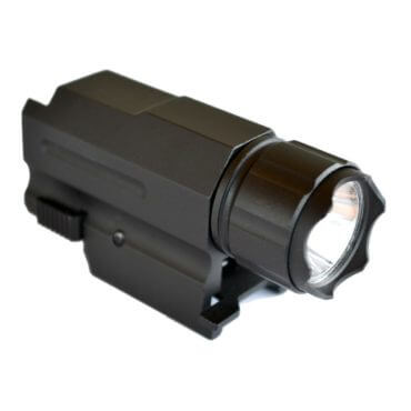 CF-12 Tactical Flashlight - 250 Lumens - Rail Mounted - AT3 Tactical