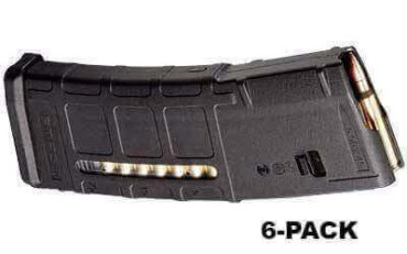 6-Pack - Magpul PMAG 30-Round M2 MOE Window Mag - .223 / 5.56 NATO