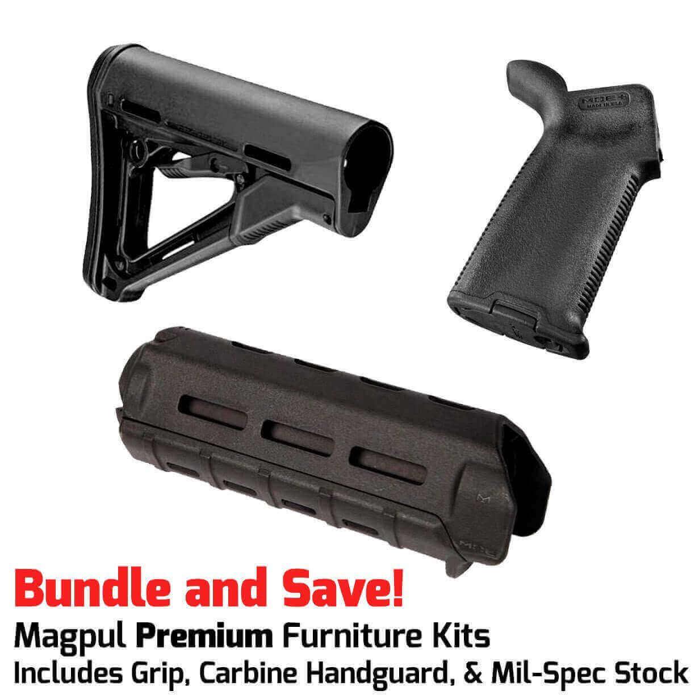 Magpul Ctr Stock Kit Furniture Kit For Ar 15 Ctr Stock Moe Grip M Lok Carbine Handguard