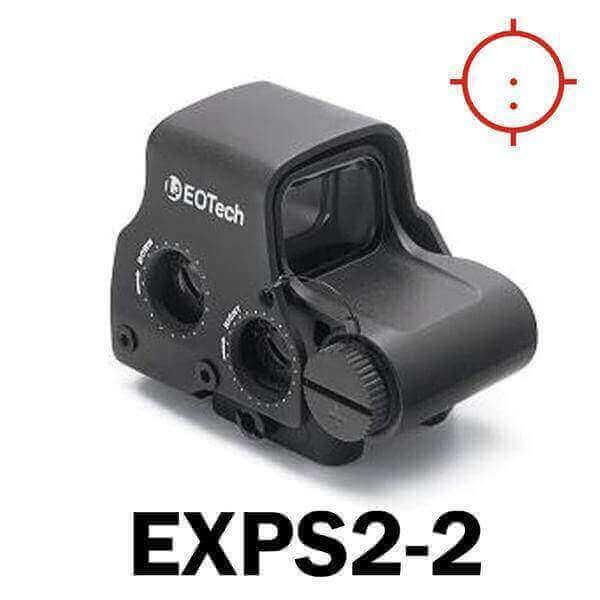 OPEN BOX RETURN Eotech Holographic Sight EXPS2 - 65MOA circle with (2) 1 MOA aiming dots - CR123 Batt - QD Riser Mount