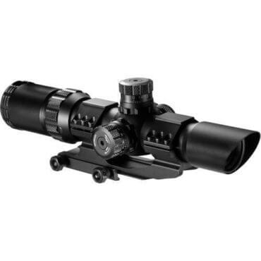 Barska Optics SWAT Scope 1-4x28mm, 30mm Tube, IR Glass, Mil-Dot Reticle - AC11872