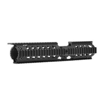 Troy Charlie BattleRail AR-15 Free Float Quad Rail - Carbine Length - Sight Tower Cutout