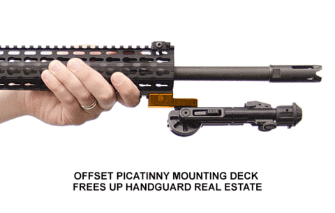 Picatinny Rifle Bipod Mount