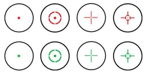red dot sights reticles